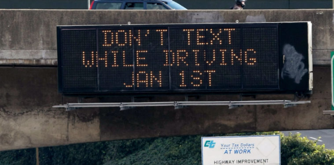The state(s) of texting and driving in the US