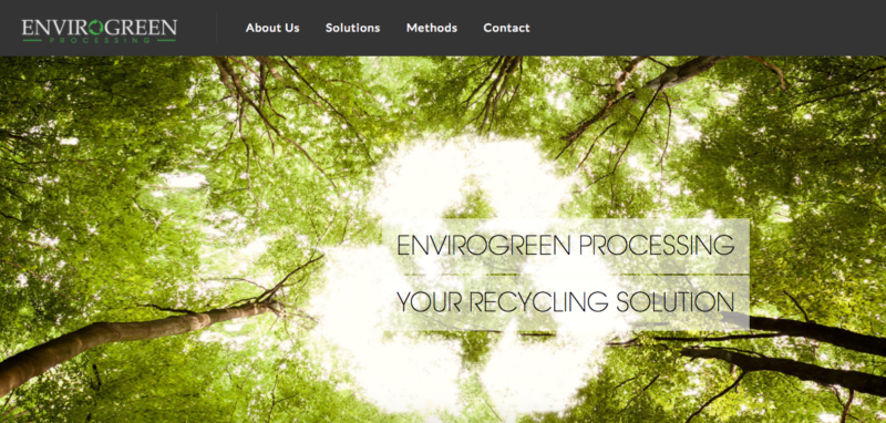 EnviroGreen's homepage. Just because a website has pictures of a lush forest doesn't mean it represents a company that does good things for the environment.