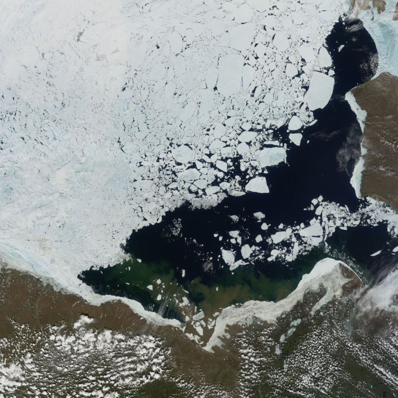 Beaufort Sea, north of Alaska, in June, 2012.