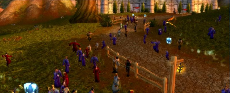 "A scene from a recent stress test of the Elysium ""legacy"" server, which recreates classic <i>World of Warcraft</i> circa 2006."