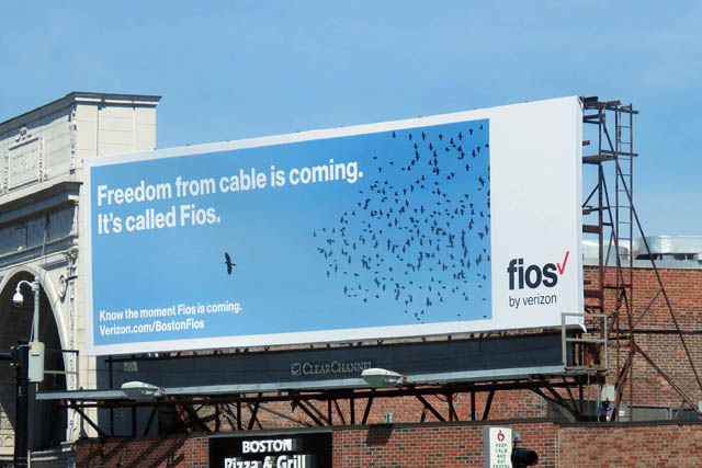 A Verizon billboard in the Boston neighborhood of Dorchester.
