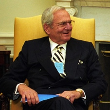 Lee Iacocca visiting the White House in 1993.