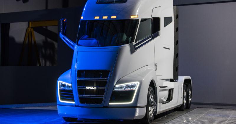 The truck of the future looks futuristic.