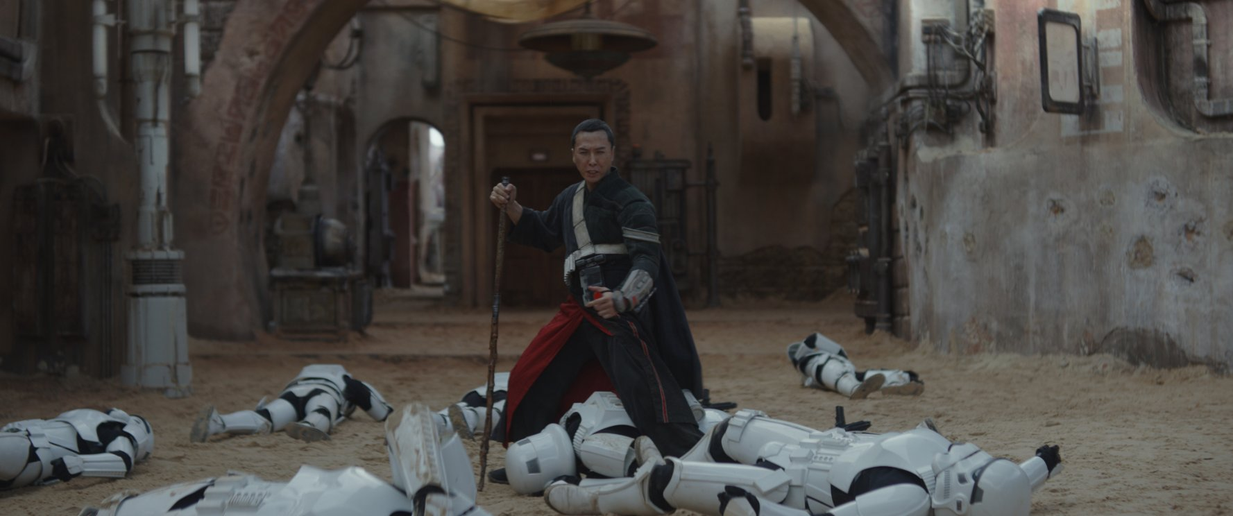 Donnie Yen as Chirrut Imwe. There are memorable characters here and they're played well, but they could all use more screen time.