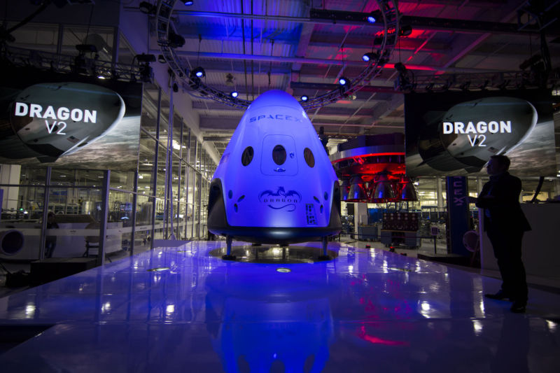 SpaceX revealed its Dragon V2 spacecraft in May, 2014. It's still a ways from the launch pad.