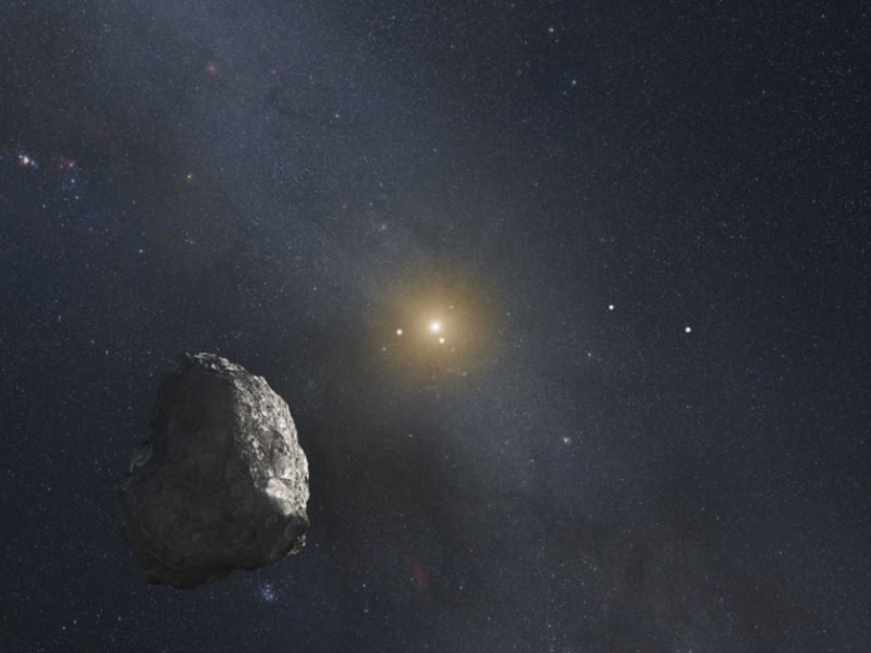 An artist's concept of what MU69 might look like.