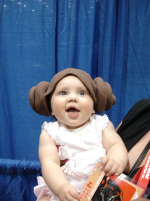 Lucasfilm says that you're more likely to see this baby portray Leia in a future <em>Star Wars</em> film, show, or game than a CGI-ized version of Carrie Fisher.