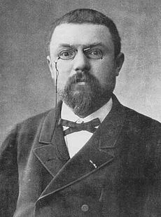 The first mention of dark matter came from this guy, Henri Poincaré.
