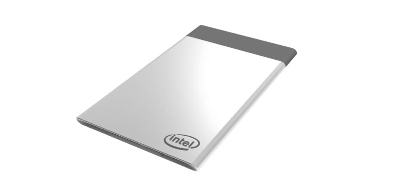A concept render of Intel's Compute Card.