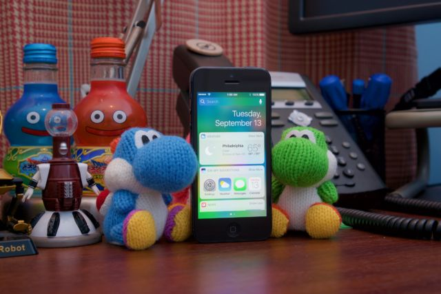 The iPhone 5 running iOS 10.