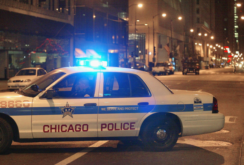 A Chicago Police car, as seen in 2003.