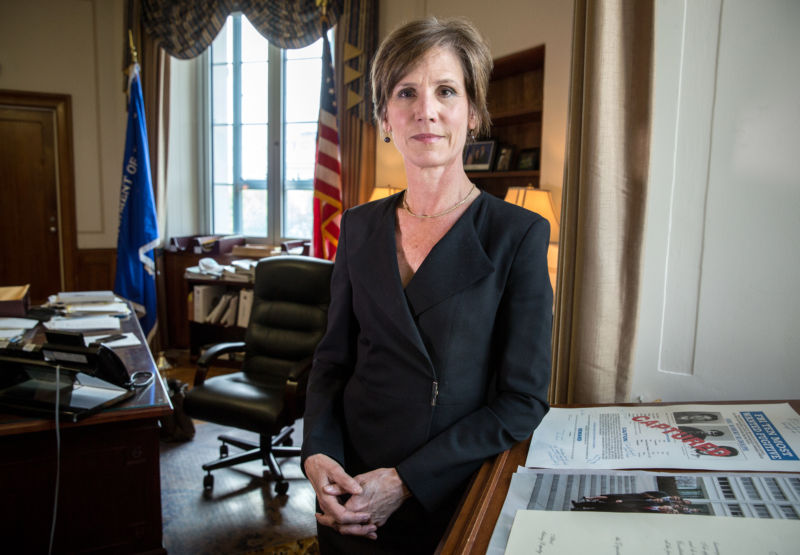 Deputy Attorney General Sally Yates (pictured here in 2015) announced the change in the photo array guidelines in January 2017.