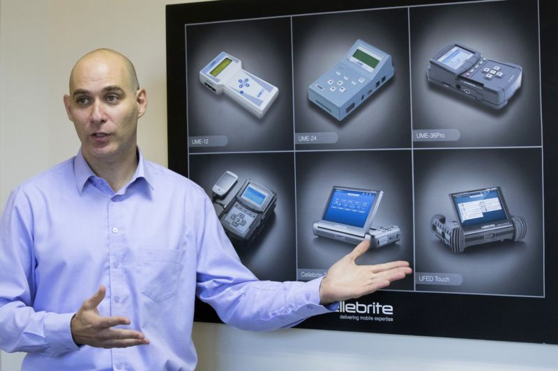 Leeor Ben-Peretz is the executive vice president of the Israeli firm Cellebrite.