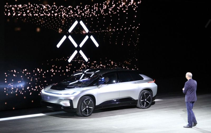 Faraday's FF91 design is somewhat derivative, echoing the Jaguar F-Pace and evoking a latter-day Saab SUV, had the company not died before designing its own proper one.