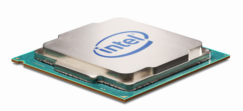 A Kaby Lake desktop CPU, not that you can tell the difference in a press shot. This is built using Intel's 14nm+ process.