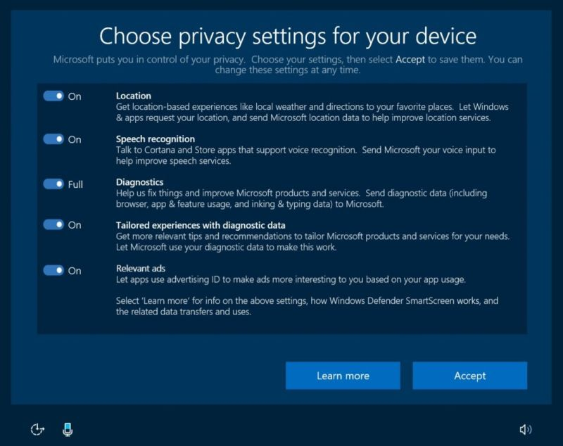 The new settings page is likely to look something like this, though Microsoft says it may change before the final release.