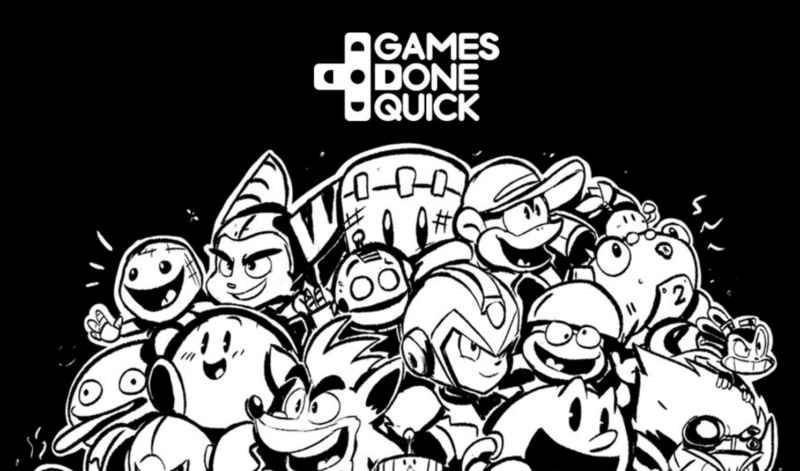 We're digging the cartoony poster made for this year's Awesome Games Done Quick event.