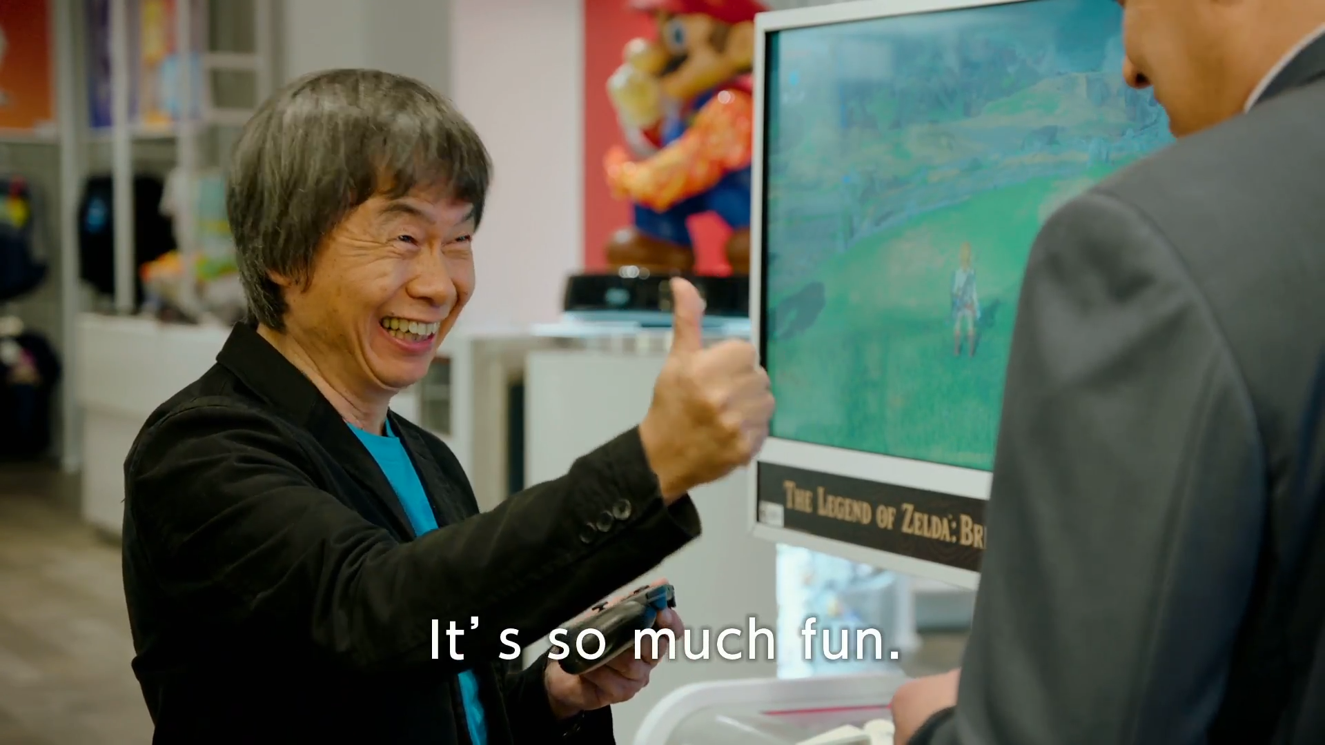 Miyamoto loves the new <em>Zelda</em> game.