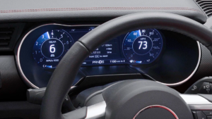 The 12-inch instrument cluster on the 2018 Mustang.