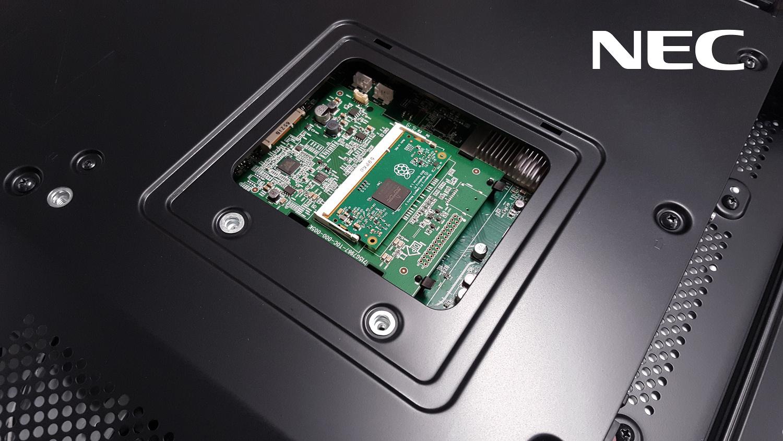 The Raspberry Pi Compute Module in an NEC display