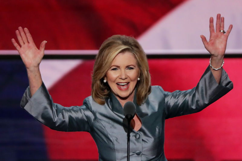 US Rep. Marsha Blackburn (R-Tenn.) delivers a speech at the Republican National Convention on July 21, 2016 in Cleveland, Ohio.