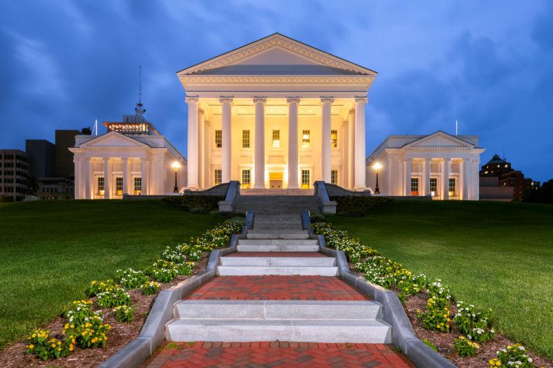 Virginia State Capitol in Richmond.