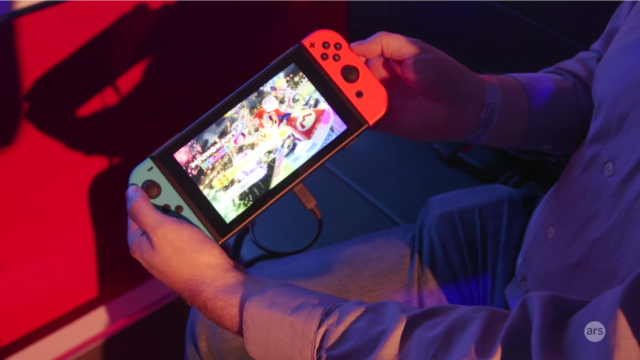 Ars' Kyle Orland tries out the Nintendo Switch in its portable mode.