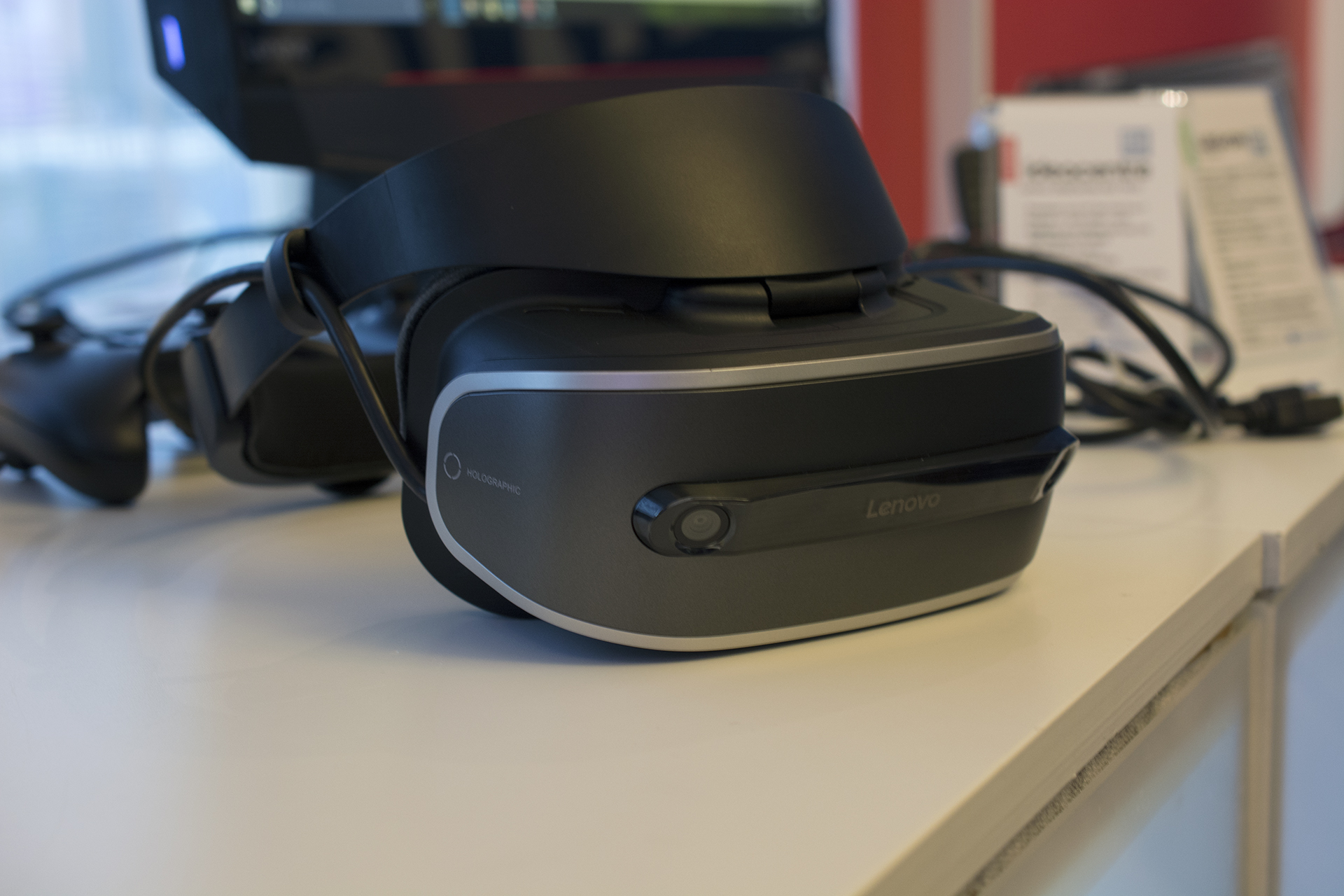 Microsoft remains focused on Windows-based VR headsets, like this one from Lenovo, rather than bringing VR to consoles.