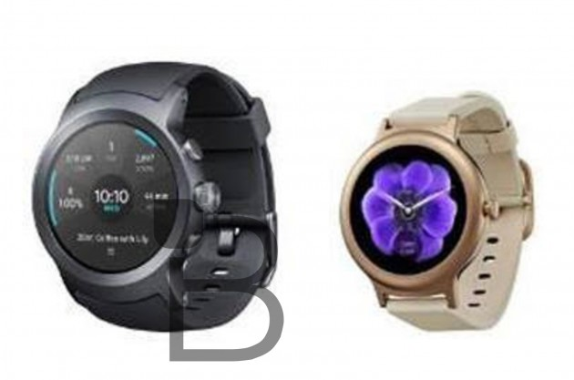 "Technobuffalo's leaked image. The big one on the left would be the ""LG Watch Sport,"" while the smaller one is the ""LG Watch Style."""