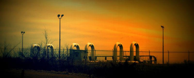 Pumping station for an oil pipeline in rural Nebraska.
