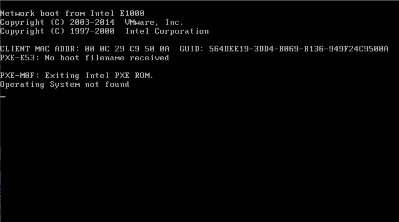 A computer infected by Shamoon System is unable to find its operating system.
