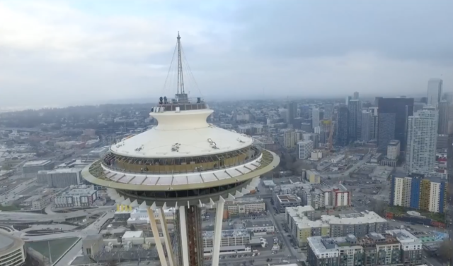 photo image Drone crashed into Seattle's Space Needle on New Year's Eve