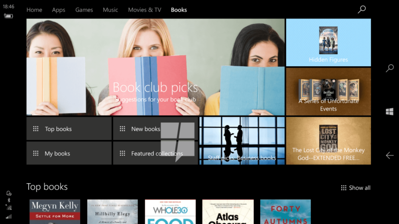 Windows is getting its own built-in book store in the Creators Update