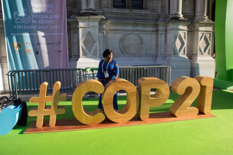 The COP21 negotiations in Paris.