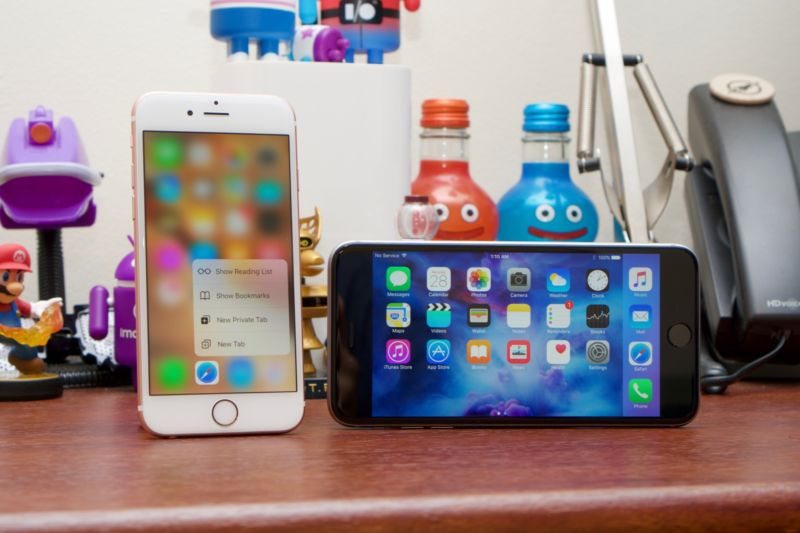 The iPhone 6S and 6S Plus.