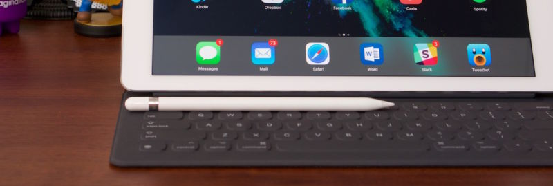 The iPad Pro, Smart Keyboard, and Apple Pencil.