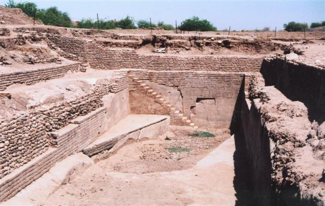 The Indus city of Dholavira in western India had impressive water infrastructure, such as this deep reservoir. The Indus people needed a way to conserve their water supply because rainy seasons were unpredictable. Each city came up with slightly different solutions to the water problem.