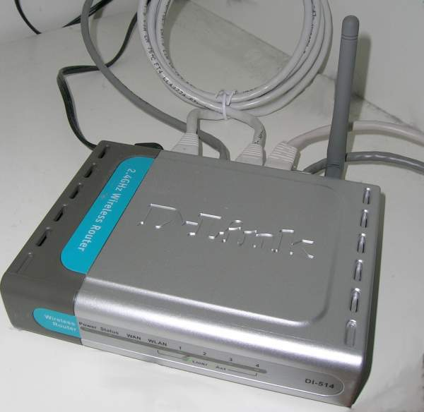 D-Link's DI-514 802.11b router. It was a perfectly cromulent router for its time... but those were dark days, friend, dark days indeed.