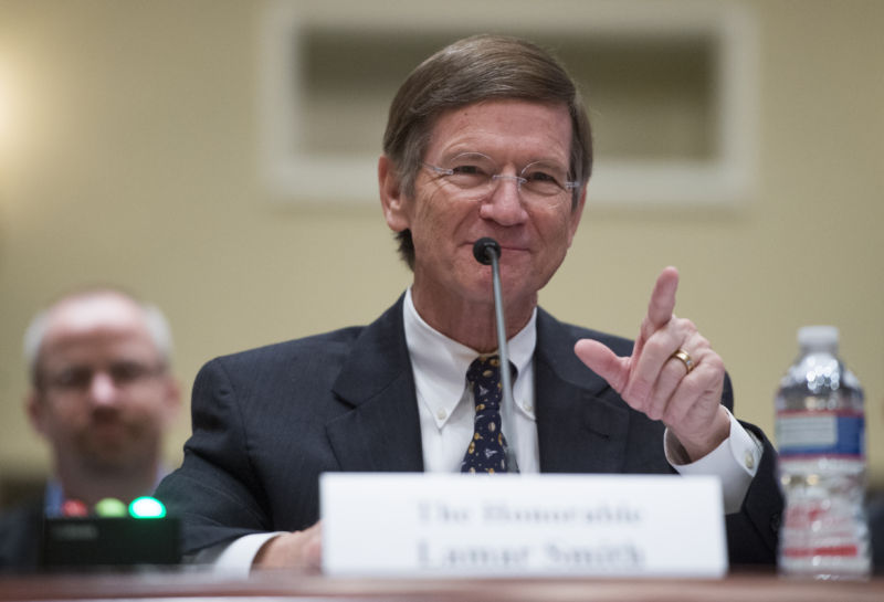 Chairman of the Science, Space, and Technology Committee Lamar Smith, R-Texas, seen here in 2013.