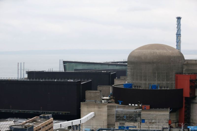 "A photo taken on February 9, 2017 shows nuclear reactor number 1 (""Flamanville 1"") of the Flamanville nuclear plant after an explosion at the plant in Flamanville, northwestern France.