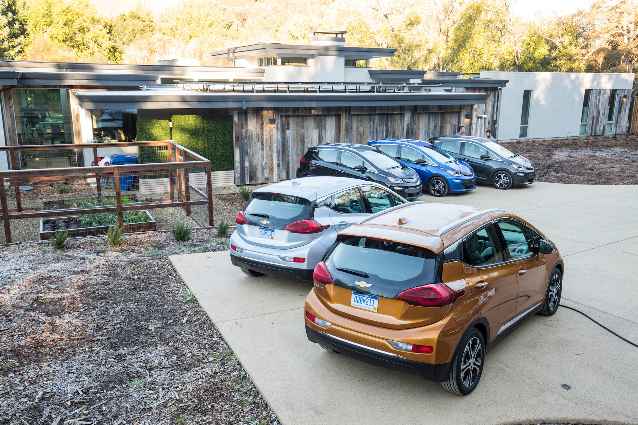 An array of Bolt EVs