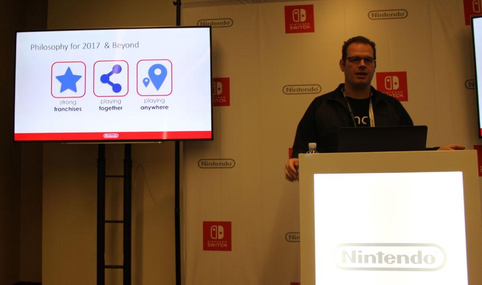 Nintendo's Damon Baker.