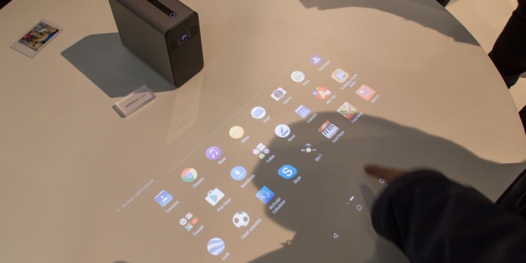 photo image Sony's projector that turns your wall into a touchscreen is now available