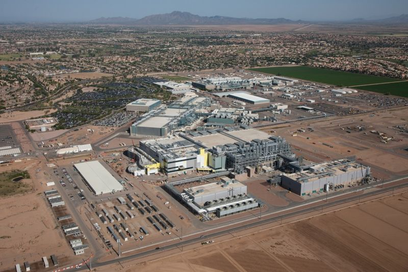 Intel's uncompleted Fab 42 in Chandler, AZ.