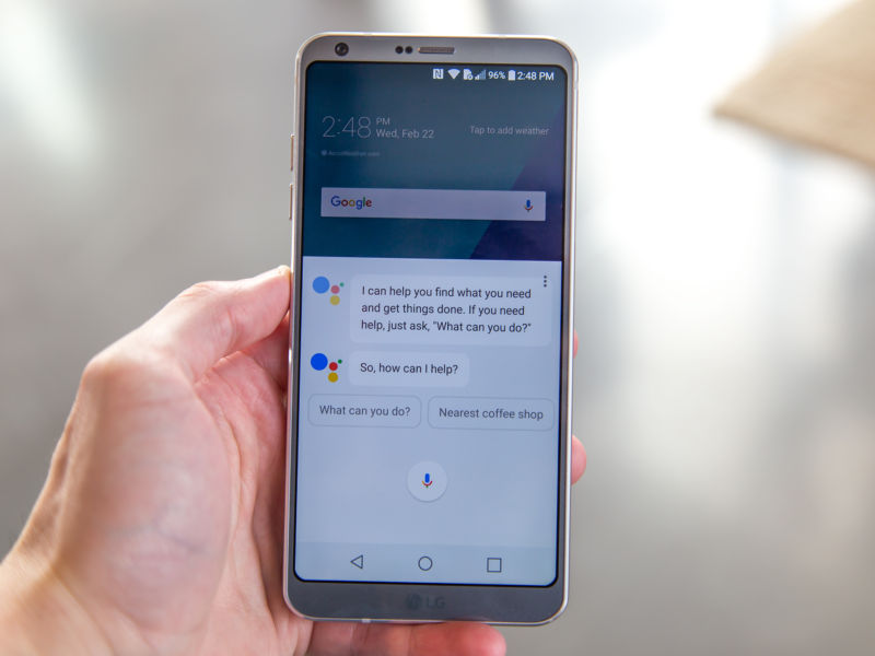 The Google Assistant on the LG G6.