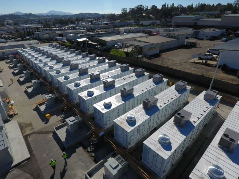 An aerial view of the new batteries on SDG&E's grid.