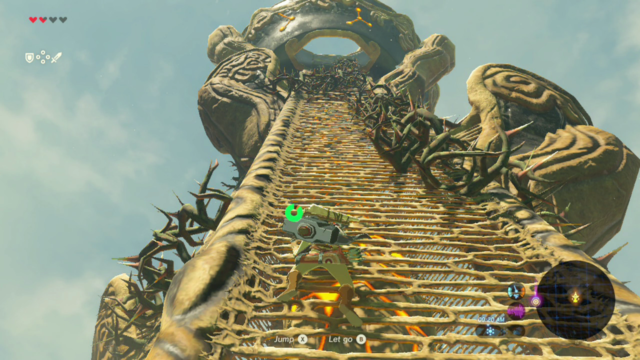 "The ""climb a tower to get a map"" thing is a bit played out, but <i>Breath of the Wild</i> makes it work."
