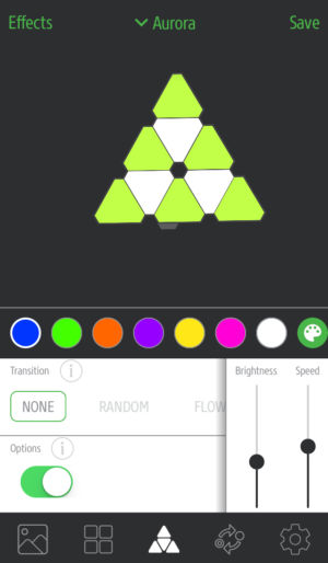 Nanoleaf's app allows you to control and program the lights with a wide variety of effects.