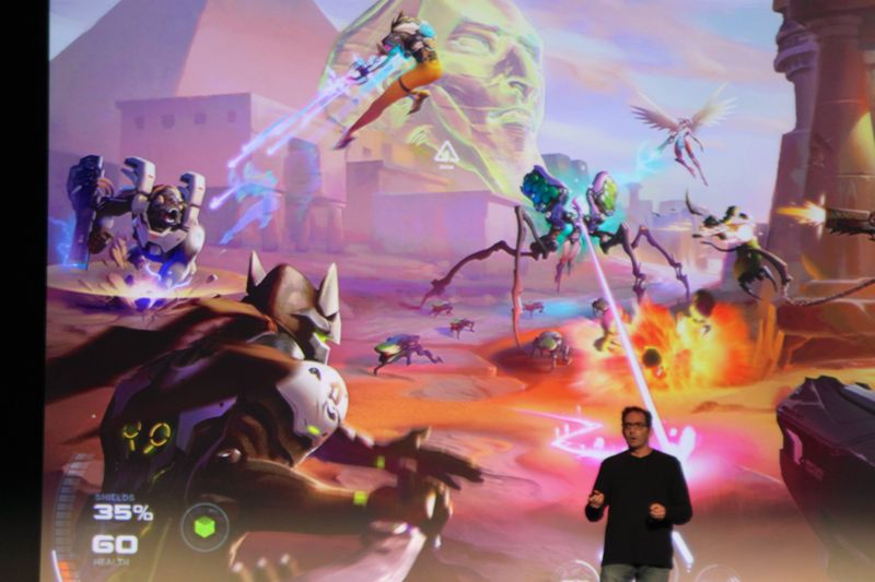 Blizzard's Jeff Kaplan says he thinks they did a good job capturing the feel of  this very early concept art for <i>Overwatch</i> in the final product. We have to agree.