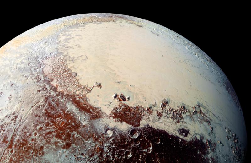 A closer view of Sputnik Planitia.